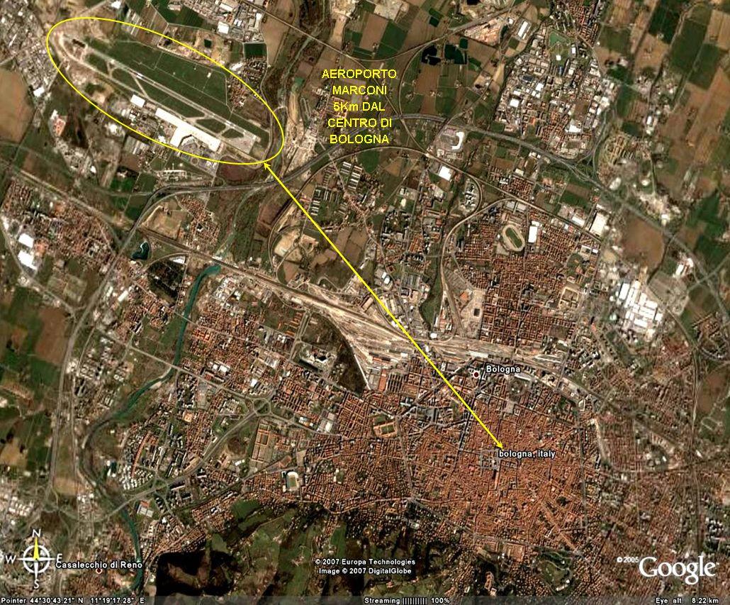 Piazza Maggiore - Aeroporto km. 5