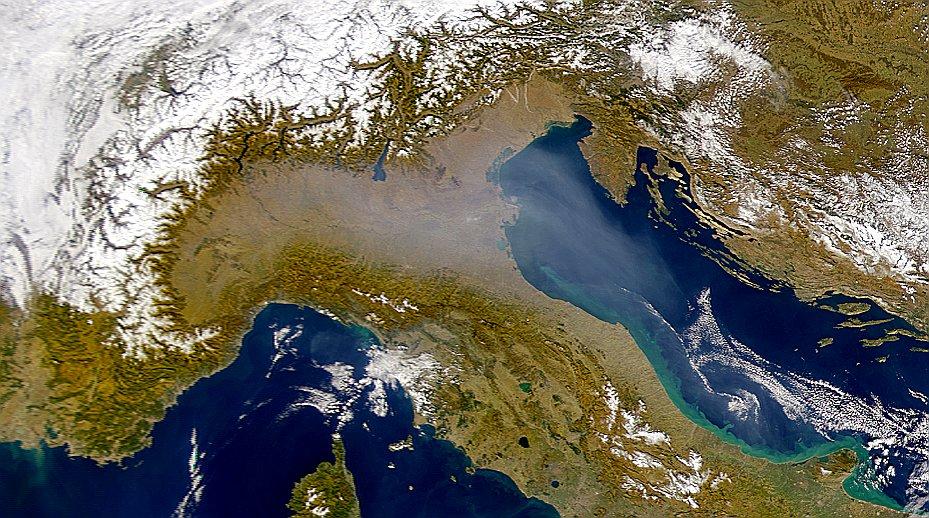 Polveri fini sulla Pianura Padana